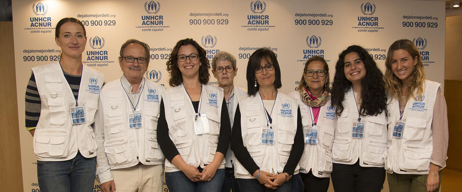 Voluntarios de ACNUR Madrid